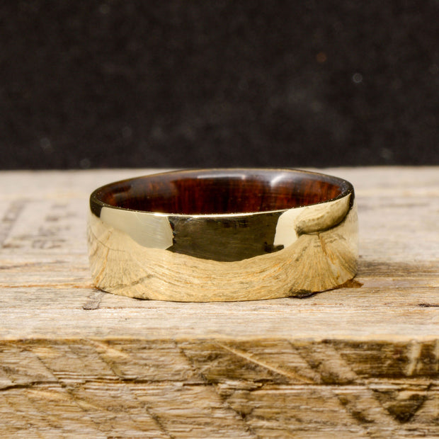 Metal with Desert Ironwood Inner Band 8mm