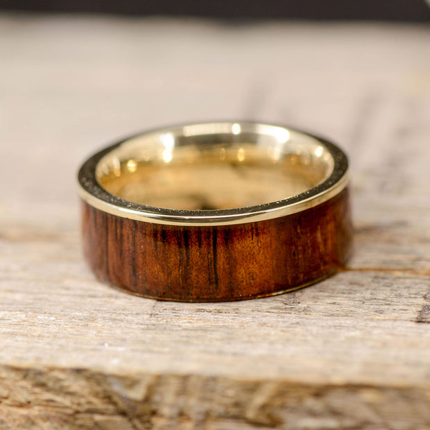 Gold with Koa Wood and Metal Lip