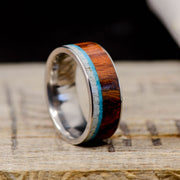 Antler, Ironwood, & Turquoise Channel Ring