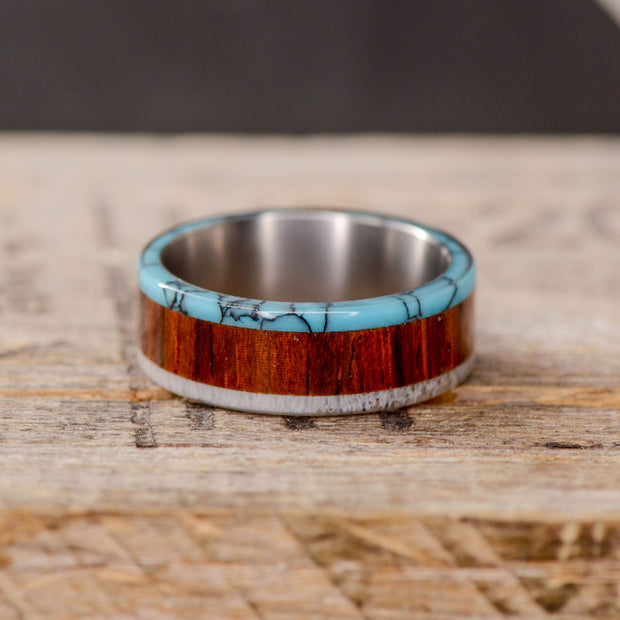 Rosewood, Turquoise, & Antler
