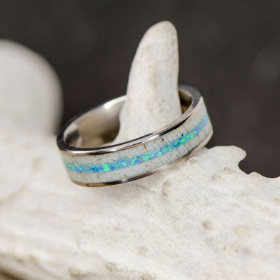 Elk Antler & Blue Opal Channels