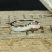 White Opal Soft V-Ring