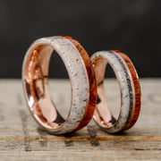 Ironwood, Rose Gold, Antler, & Meteorite