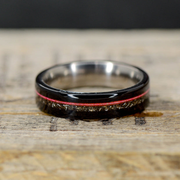 Blackwood, Red Guitar String, & Crushed Meteorite