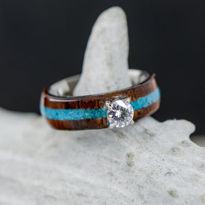 Moissanite, Rosewood, & Turquoise