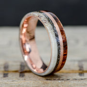 Ironwood, Metal, Meteorite, & Antler 8mm