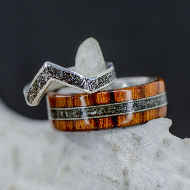 Ironwood, Guitar String, Meteorite Channel & V-Ring
