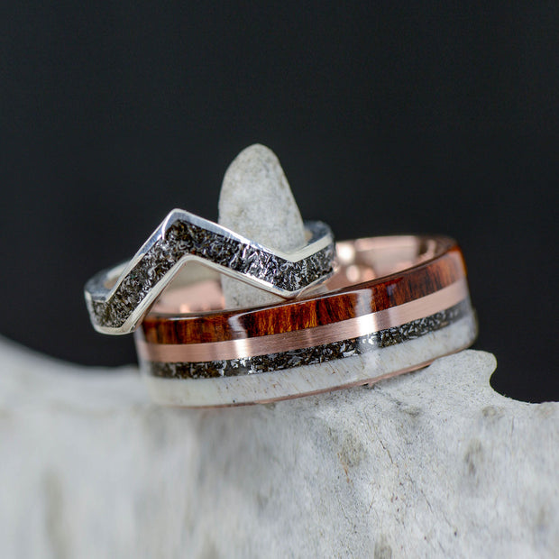 Antler, Rose Gold, Ironwood & V-Ring
