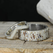 Metal & Antler V-Ring