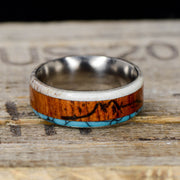 Antler, Rosewood with Engraved Mountains, & Turquoise
