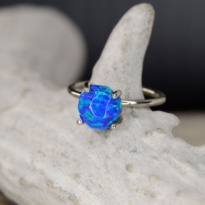 Raw Cut Blue Opal