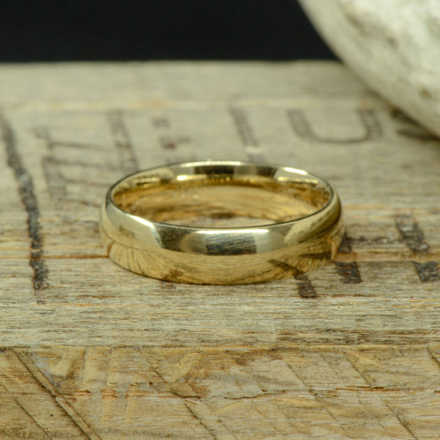 Rounded Gold Band 6mm