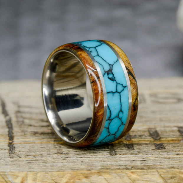 Maple & Turquoise 12mm