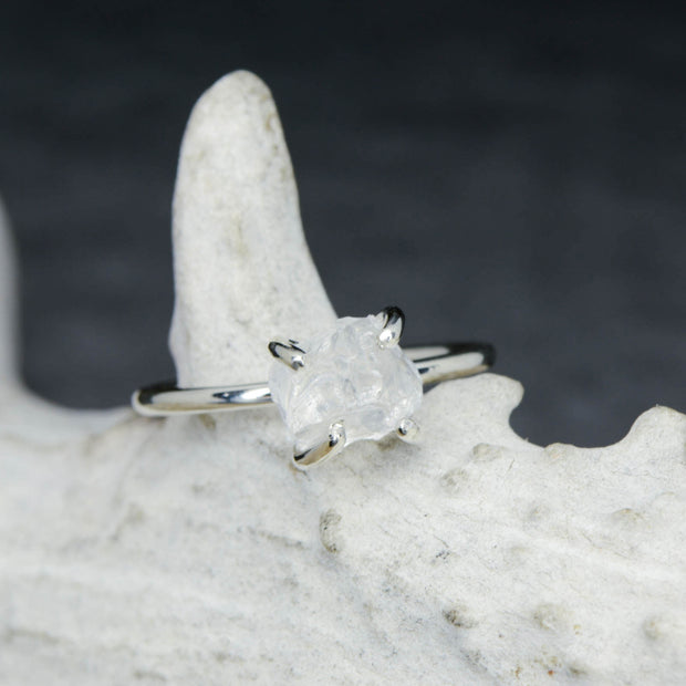 White Gold Raw Cut Quartz