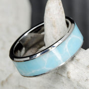 Larimar in Tungsten or Ceramic Channel ***
