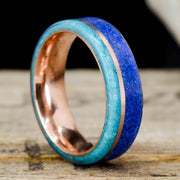 Crushed Turquoise, Lapis, & Rose Gold