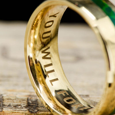 Custom ring engraving
