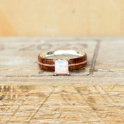 Ironwood, Rose Gold, & Square Opal