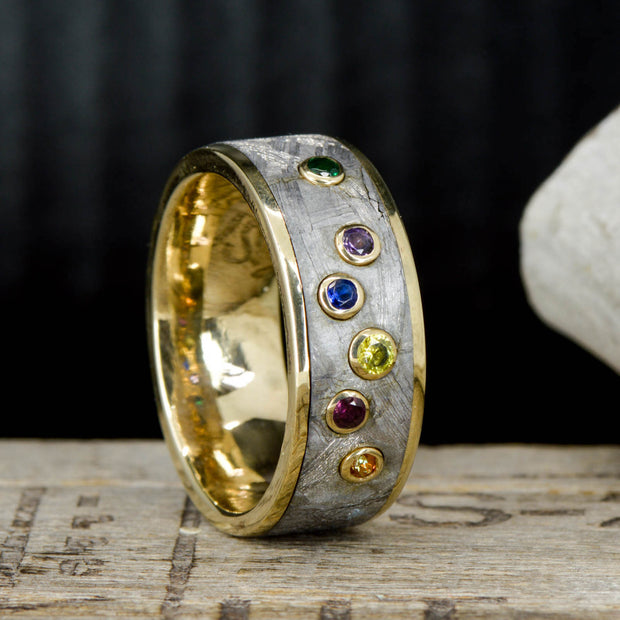 Marvel Infinity Gauntlet Ring, Gold, Meteorite, & Gemstones - ***