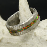 Damascus Steel & Black Opal