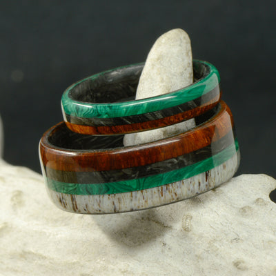 Forged Carbon Fiber, Ironwood, Malachite, & Antler