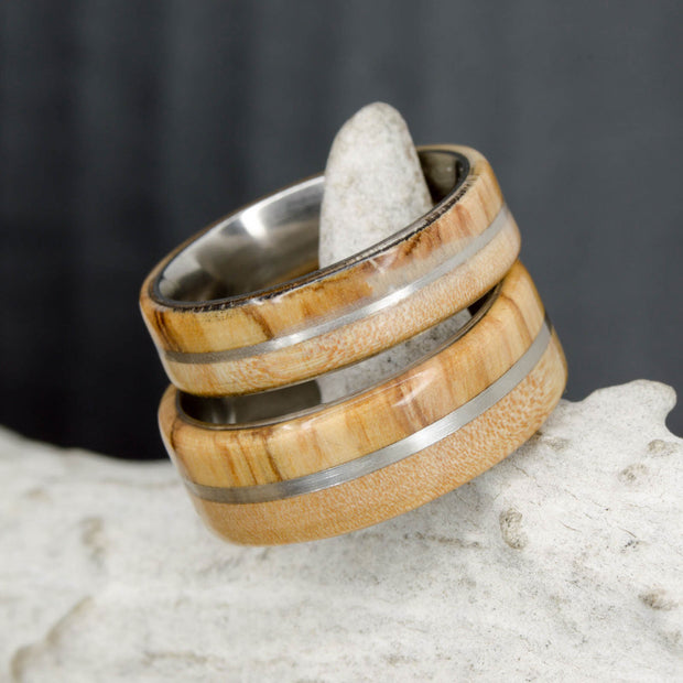 Olivewood, Maple, & Metal