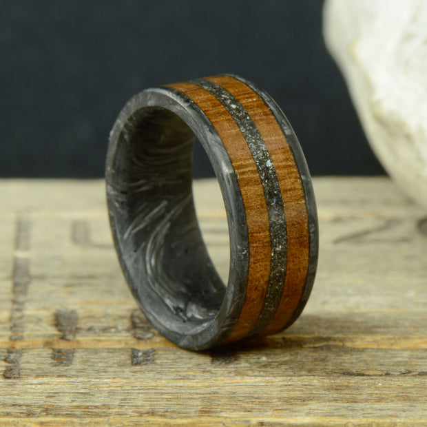 Forged Carbon Fiber with Koa Wood & Meteorite