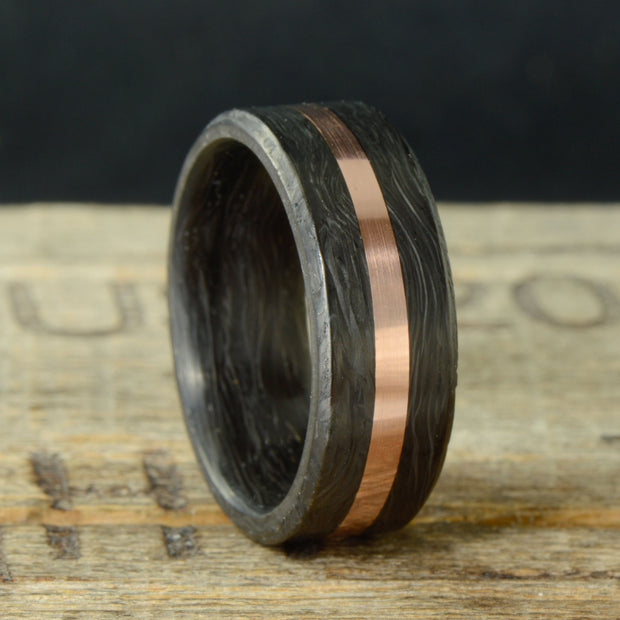 Forged Carbon Fiber and Rose Gold