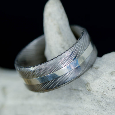 Damascus Steel & Silver ***