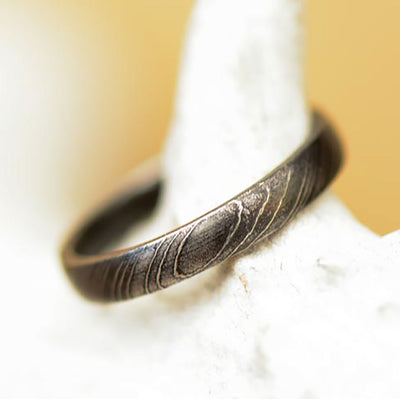 Damascus Steel Band 4mm