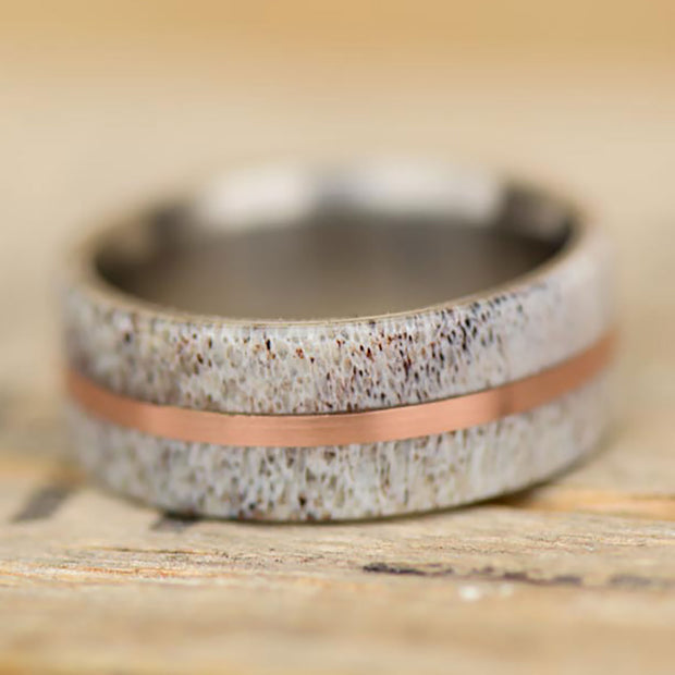 Elk Antler & Rose Gold 10mm