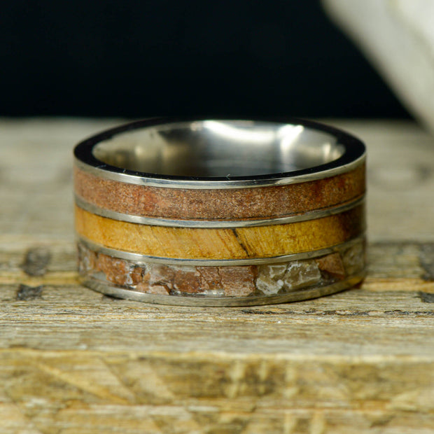Lake Powell Ring - Driftwood, Red Sandstone, & Petrified Wood