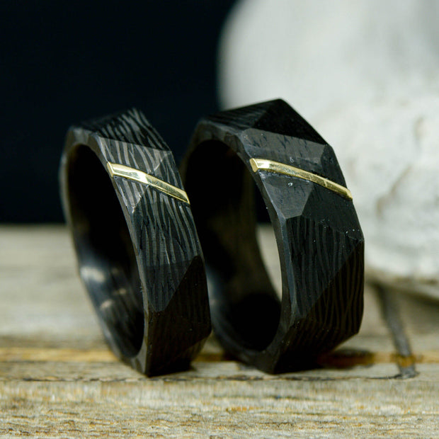 Facet Cut Forged Carbon Fiber & Yellow Gold