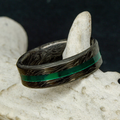 Forged Carbon Fiber Ring & Imperial Jade