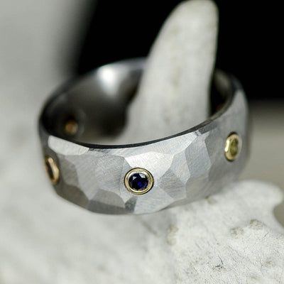 Endgame Infinity Gauntlet Ring, Gold, Faceted Titanium, & Gemstones ***