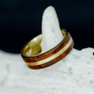 Koa Wood with Yellow Gold Inlay ***