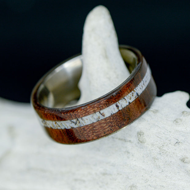 Walnut Wood & Offset Elk Antler ***