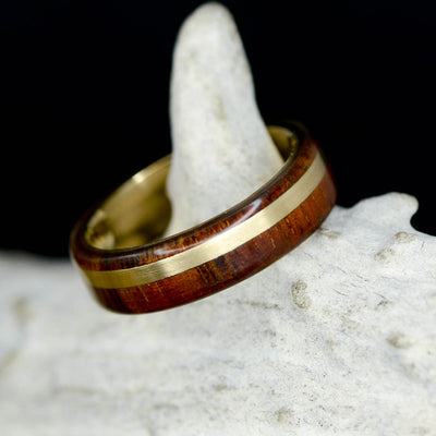 Yellow Gold & Koa Wood ***