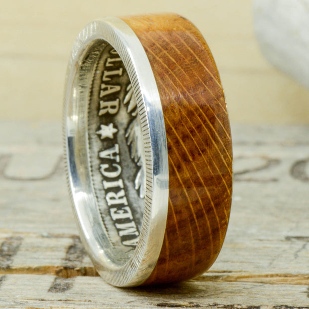 Jack Daniels Barrel Wood & Metal Edge