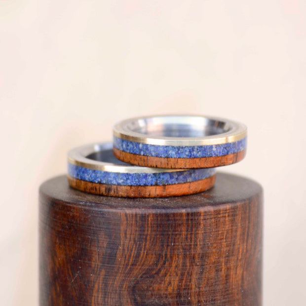 Koa Wood, Lapis, & Gold