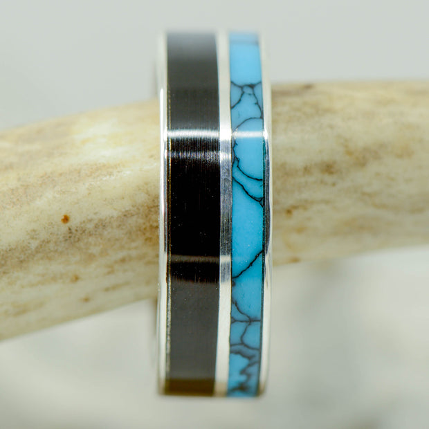 Blackwood & Turquoise Channel Ring