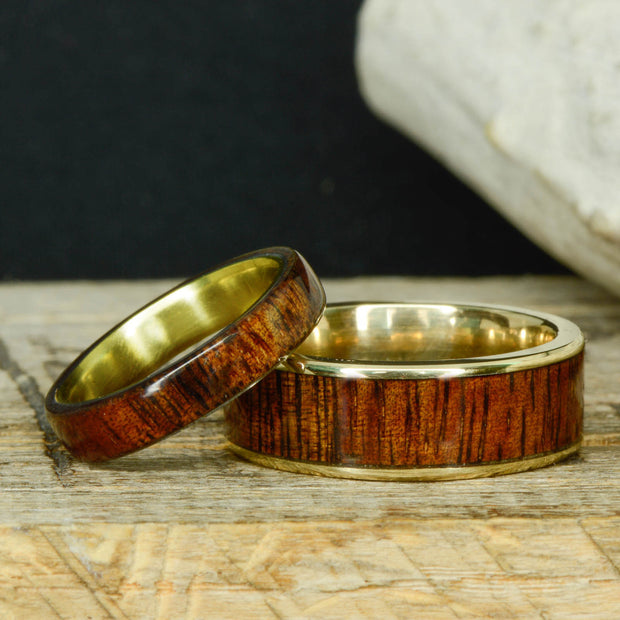 Yellow Gold & Koa Wood