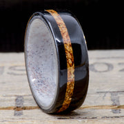 African Blackwood, Cork Inlay with an Elk Antler Inside Band