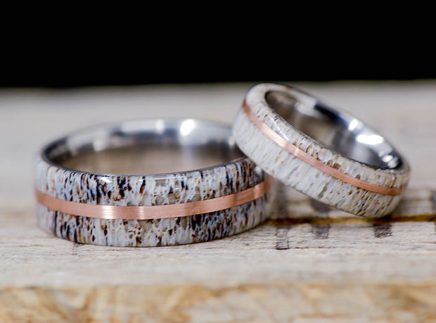 Elk Antler & Offset Rose Gold