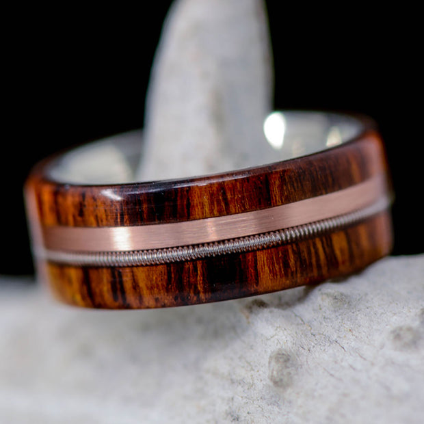 Desert Ironwood, Rose Gold, & Guitar String
