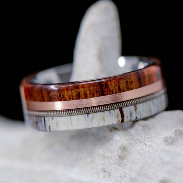 Ironwood, Rose Gold, Guitar String, & Antler ***