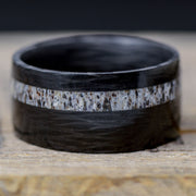 SALE RING - Carbon Fiber & Elk Antler - Size 12.25