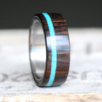 African Blackwood & Offset Turquoise