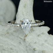 Paola - Pear Solitaire Ring