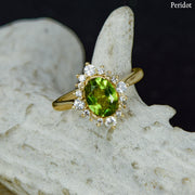 Phoebe - Oval Halo Ring